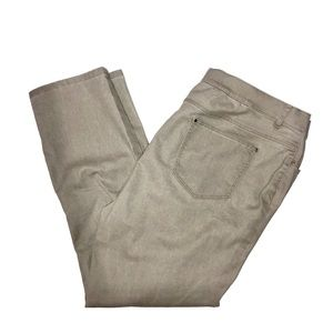 Lafayette 148 Beige Pant/Jeans Style Hi Rise Sz 16